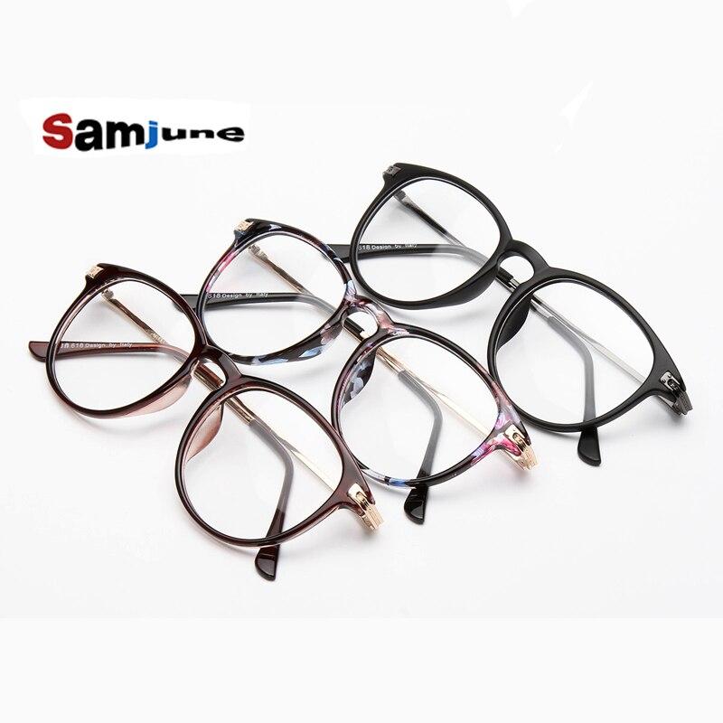 Novos Óculos Da Moda Retro Do Metal Do Vintage quadro simples óculos de  vidros ópticos homens mulheres miopia óculos de armação oculos de grau 865006cc0b