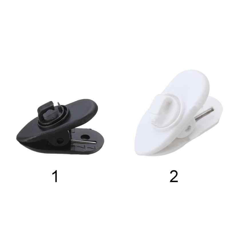 10Pcs Earphone Cable Wire Cord Collar Clip Nip Clamp Holder Mount Headphone Wire Clamp Holder Wire Lapel Clip #0313