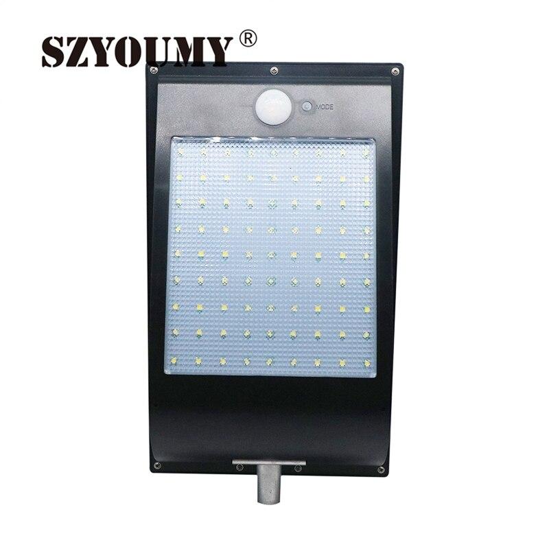 SZYOUMY 81 Leds Integrated Solar Street Light Motion Sensor Solar Lamps 3 Mode Best Solar Power Light Outdoor IP65 1000 Lumen