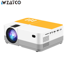 WZATCO H2 H3 Portable Projector Real 720P 200 ANSI lumens LED Mini Video HD with HDMI USB For Game Movie Home Theater Beamer