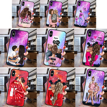 Woman Girl mom baby fashion For iPhone X XR XS Max 5 5S SE 6 6S 7 8 Plus Oneplus 5T Pro 6T phone Case Cover Funda Coque Etui