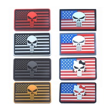 3D PVC glue armband square  American Punishment person flag The Blood type chapter armbands morale tactics
