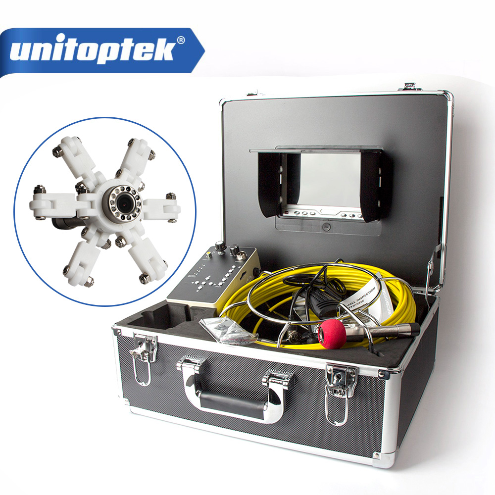 7 inch TFT LCD Monitor Built in DVR Camera System Inspection Borescope 1000TVL With 20M Cable Pipe Sewer Camera Aluminum Case