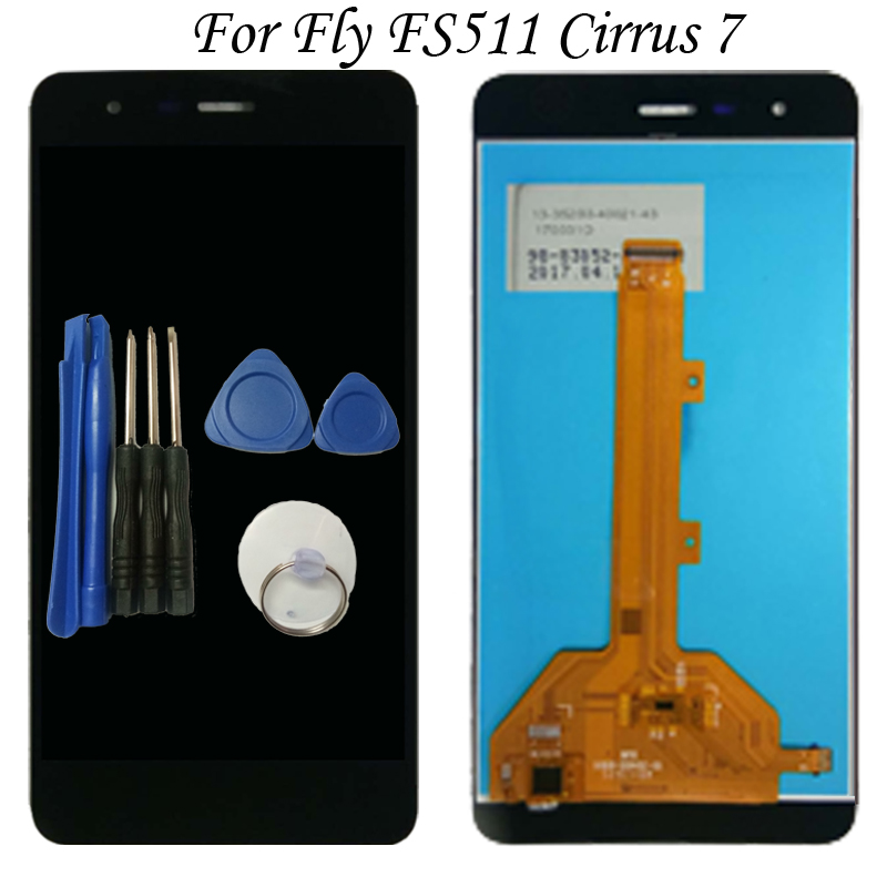 High Quality For Fly FS511 FS 511 Cirrus 7 LCD Display Panel With Touch Screen Digitizer Assembly Free Tools Free Shipping