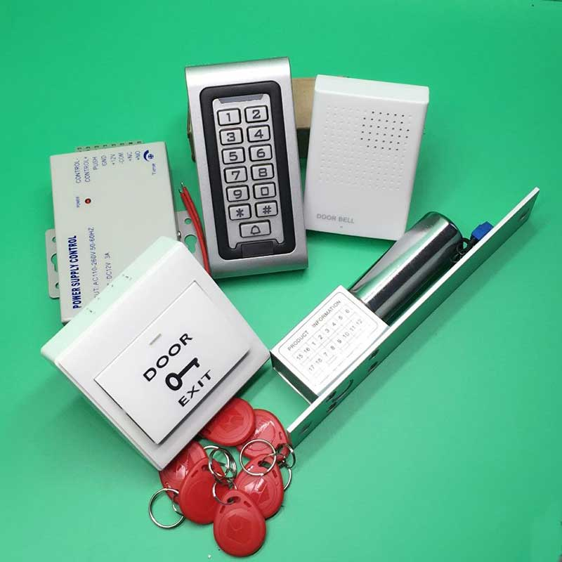 Door Access Control Controller Waterproof IP68 Metal Case RFID Reader Keypad with Low Temperature electric bolt Lock