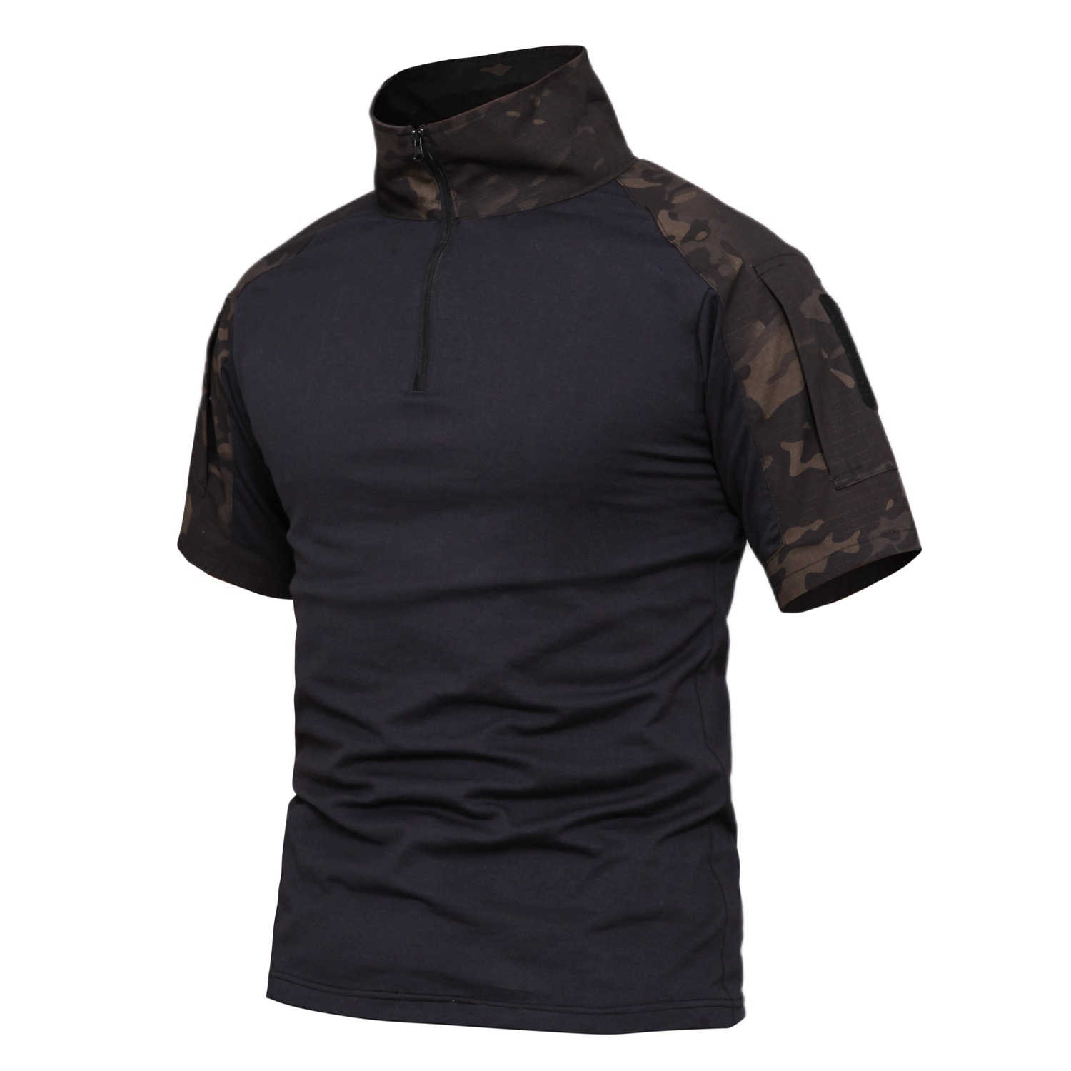 2019 Mannen Hunting Tactical Shirts Outdoor Korte Mouwen Basislaag Airsoft Paintball Militaire Leger Wandelen Jacht Combat Shirt