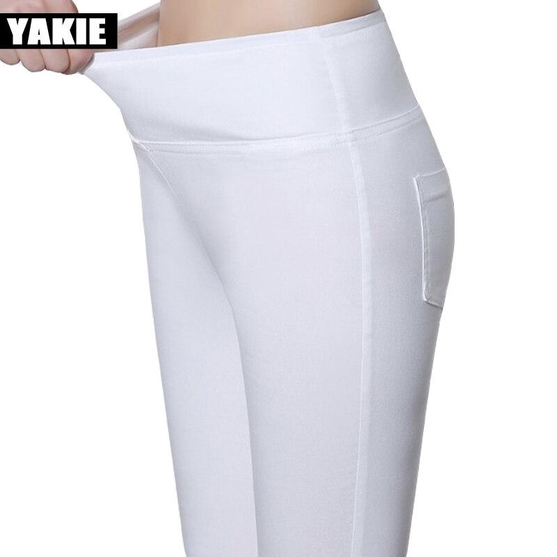 High waist   pants     capri   women elastic skinny slim pencil   pants   female trousers Plus size candy color leggings pantalon femme