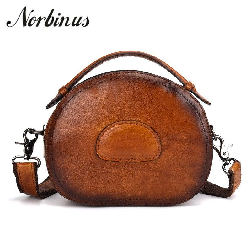 все цены на Norbinus Women Genuine Leather Handbag Real Skin Shoulder Bags Female Luxury Designer Messenger Crossbody Bag Brand Ladies Tote онлайн