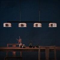 4 головки постмодерн розовое золото Обеденная подвесной светильник творческий Поворотный руки Италия Дизайнер подвесной светильник с свет