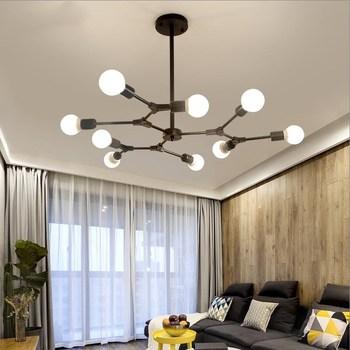 Sin sombra de ramificación de burbuja colgante lámparas para comedor  habitación araña moderna iluminación Lustre Led Avize E27 lámpara