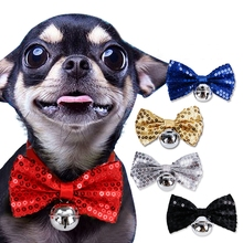 Dog Cat Sequin Bow Tie Puppy Toy Bow Tie Clothes Kitten Tie Handsome Dog Puppy Tie For Pet