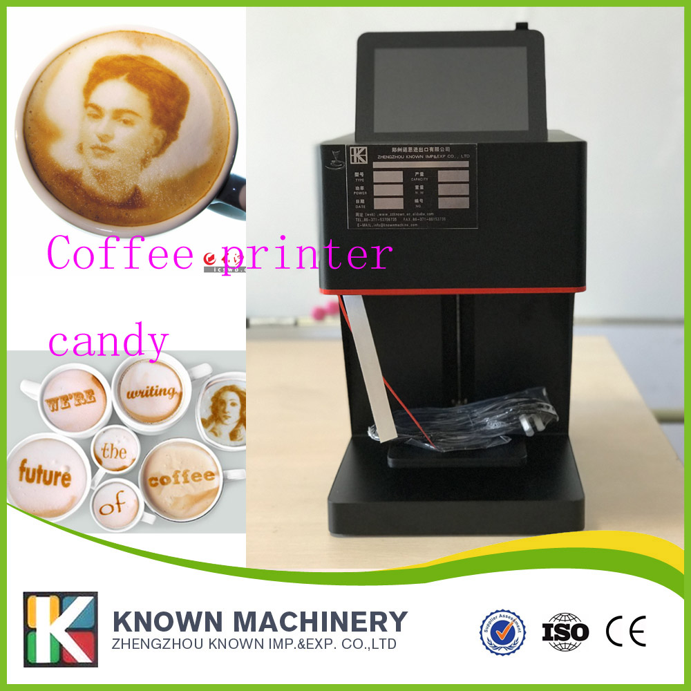все цены на Manufacturer Art Coffee Drinks Printer Food Printer Chocolate Printer with Food ink Free Factory Supply with CE