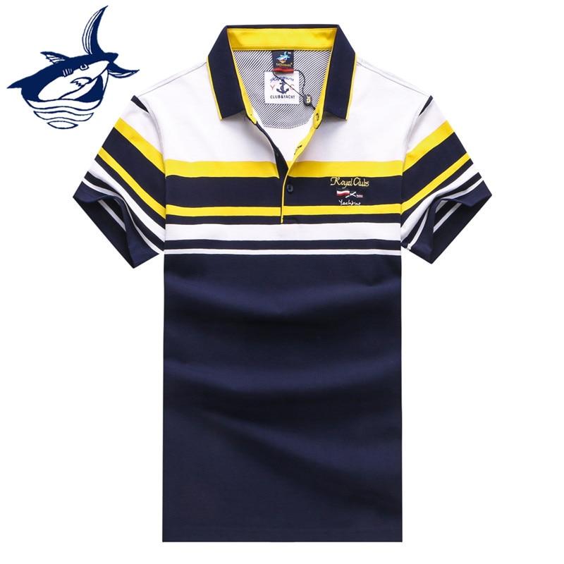 TACE&SHARK Polo Shirt Men 2018 Brand Men Striped Polo shirt Pure Cotton Success Men Best Gift Polo Shirt men striped neck polo shirt