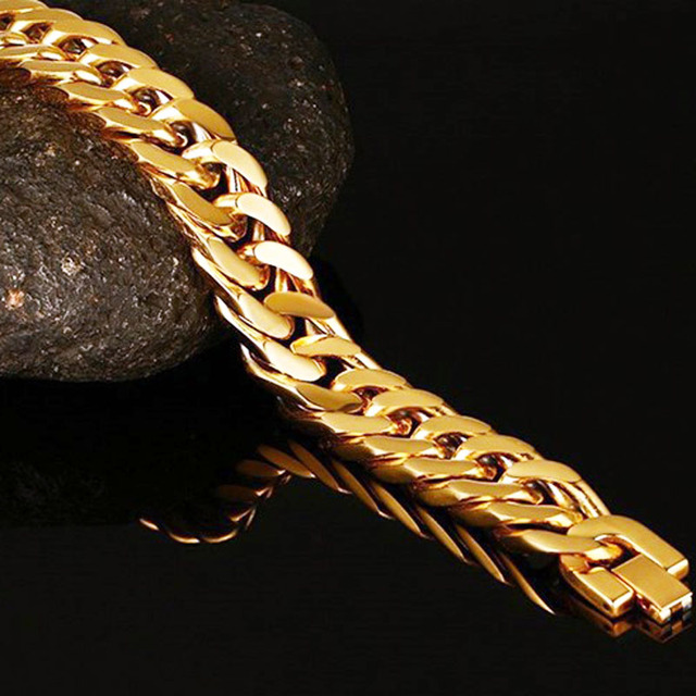 Браслеты из кубинской панцирной цепи толстые ювелирные украшения