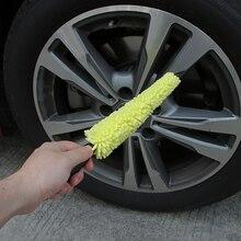 Автомобильных шин Обод Кисточки губкой для мытья очиститель Пластик длинной ручкой колеса Кисточки автомобиль стиральная инструмент мягкой щетиной чистый колеса шины