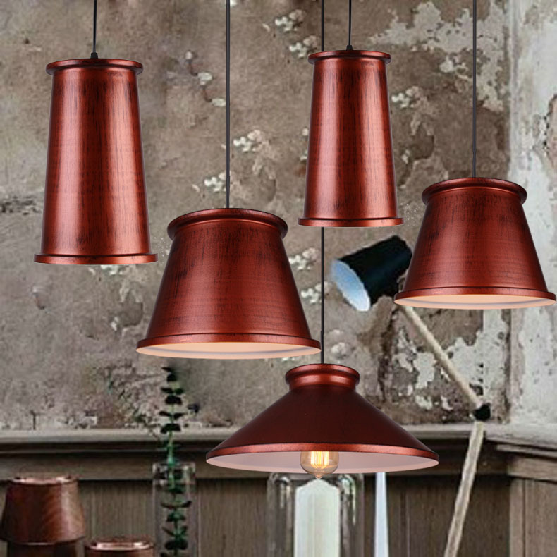 Loft Country Bronze Aluminum Dining Room Pendant lights Vintage industrial Corridor Stair Balcony Bar Counter Pendant Lamp