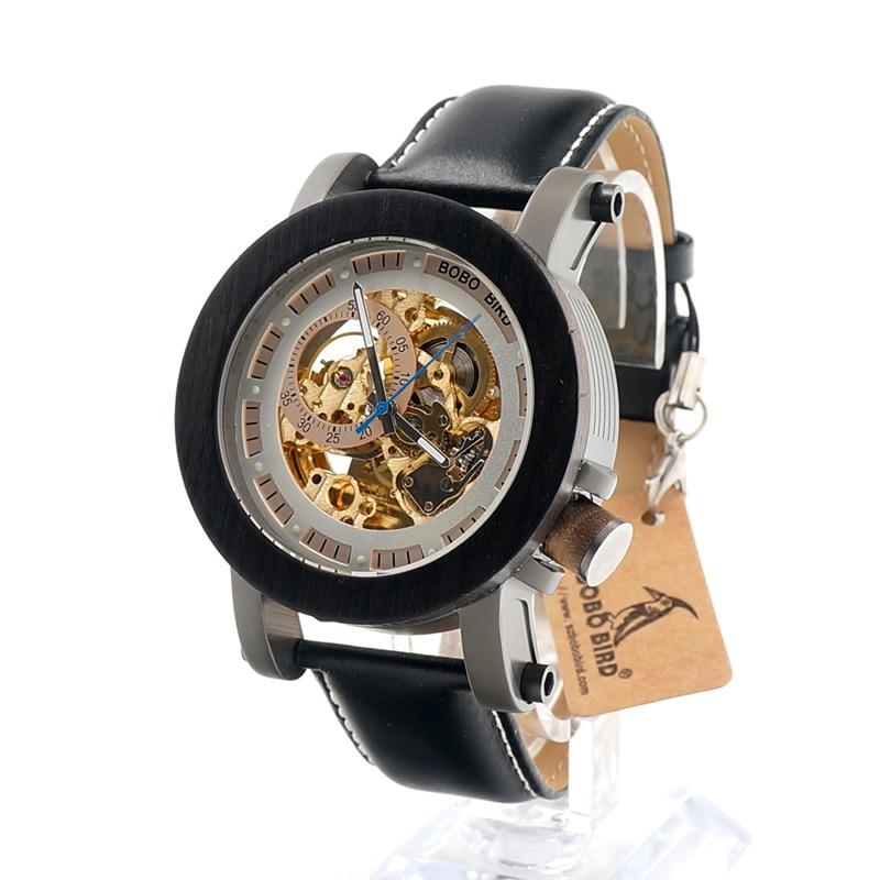 BOBO BIRD K12 Reloj Mecánico Automático, Estilo Clásico, Hombres - Relojes para hombres - foto 3