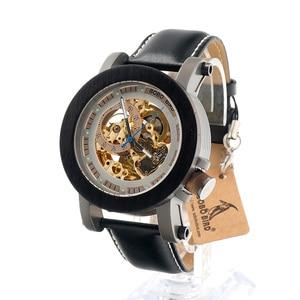 Image 3 - BOBO BIRD montre mécanique automatique K12, montre bracelet analogique de luxe en bois bambou, Style classique, avec acier, boîte en bois en cadeau