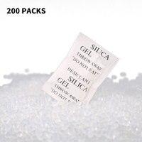 200 пакетов много пакетики с силикагелем осушителя мешки Drypack корабль сушилка 4X3 см