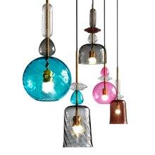 цены New Style Multicolour Class Loft Led Pendant Lights Dining room Light Nordic Romantic Bedroom Hanging Lamp E27 Bar Pendant Lamp