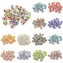 10 Pcs/lot Round Crystal Rhinestones Ball Beads Jewelry Making DIY Bracelet Necklace 12 Colors 6/8/10mm