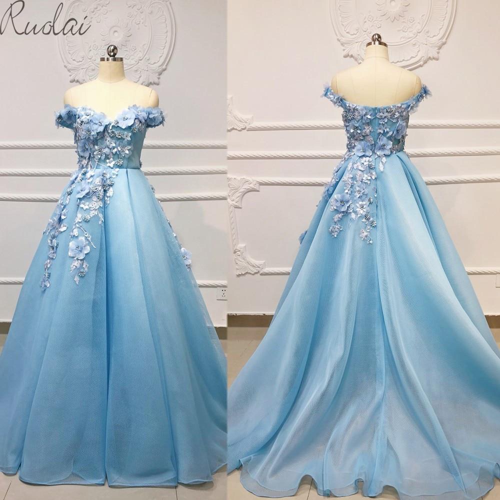 2019 New 3D flowers appliques decoration A line   Evening   Gown for Women Mermaid   Evening     dress   robe de soiree