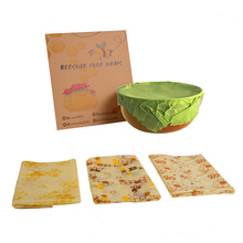 healthy Beeswax Food Wraps Seal Fresh Keeping Eco-friendly Reusable Cloth fruit nut food Wrap Storage zero waste