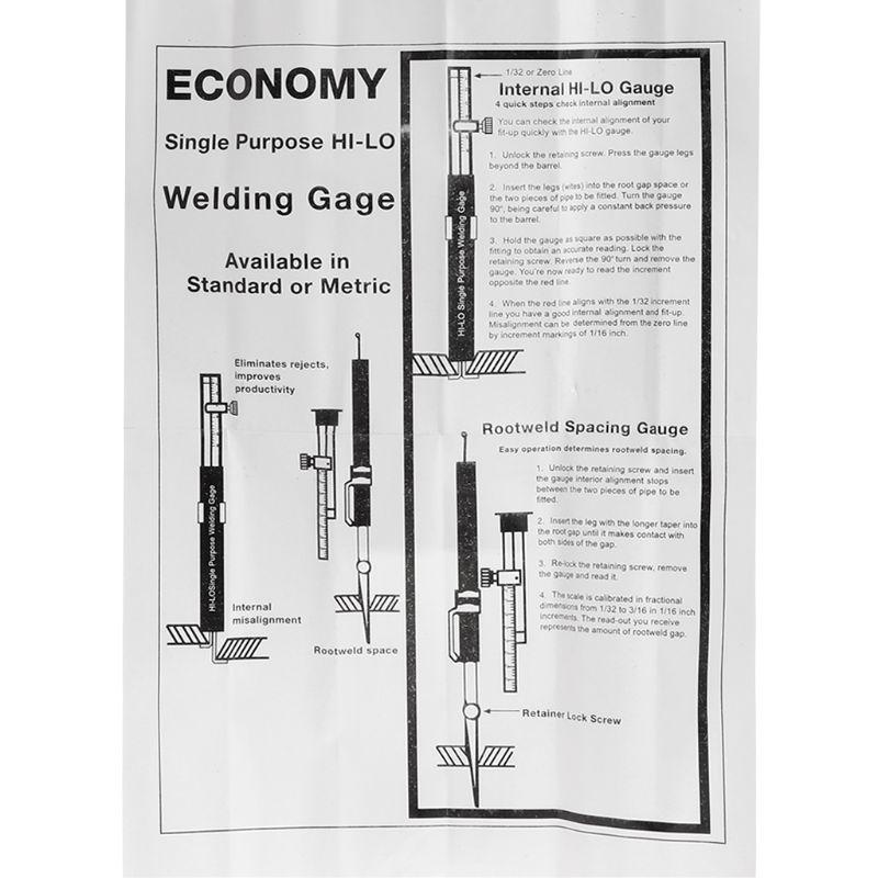 régua de soldagem gap de raiz métrica