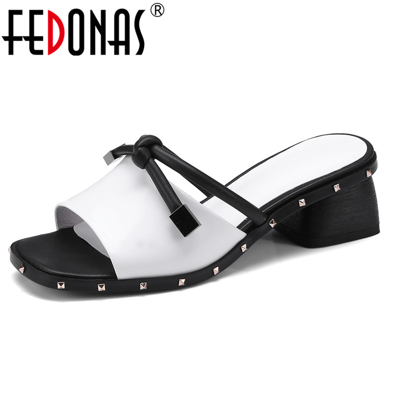 FEDONAS Sexy Women Sandals Summer Genuine Leather Ladies High Heels Sandal Shoes Woman Pumps New Brand Sandals Female Shoes new women sandals low heel wedges summer casual single shoes woman sandal fashion soft sandals free shipping
