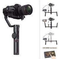 Zhiyun Crane 2 3 Axis Handheld Gimbal Stabilizer for DSLR Cameras,Sokani SK 5 5'' 4K HDMI Monitor for Sony Canon etc Cameras