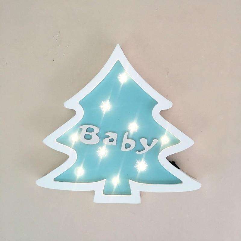 Julgran modellering ljus jul dekoration ljus som gåva hem baby rum - Festlig belysning - Foto 6