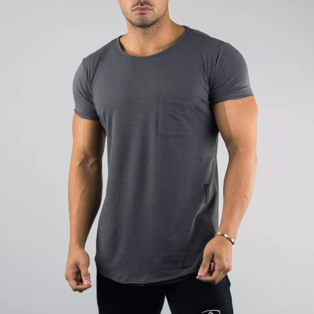 ALPHALETE New Cotton New Summer Men Running T-shirts Gyms Tight Fitness Mens Short Sleeve T-shirts Men Streetwear O-Neck Tees