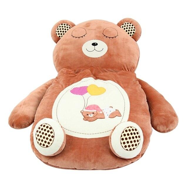 Dorimytrader Giant Cartoon Sleeping Bag Soft Plush Animals Beanbag Frog Bear Monkey Cat Bed Carpet Tatami Sofa Mat DY60497 1
