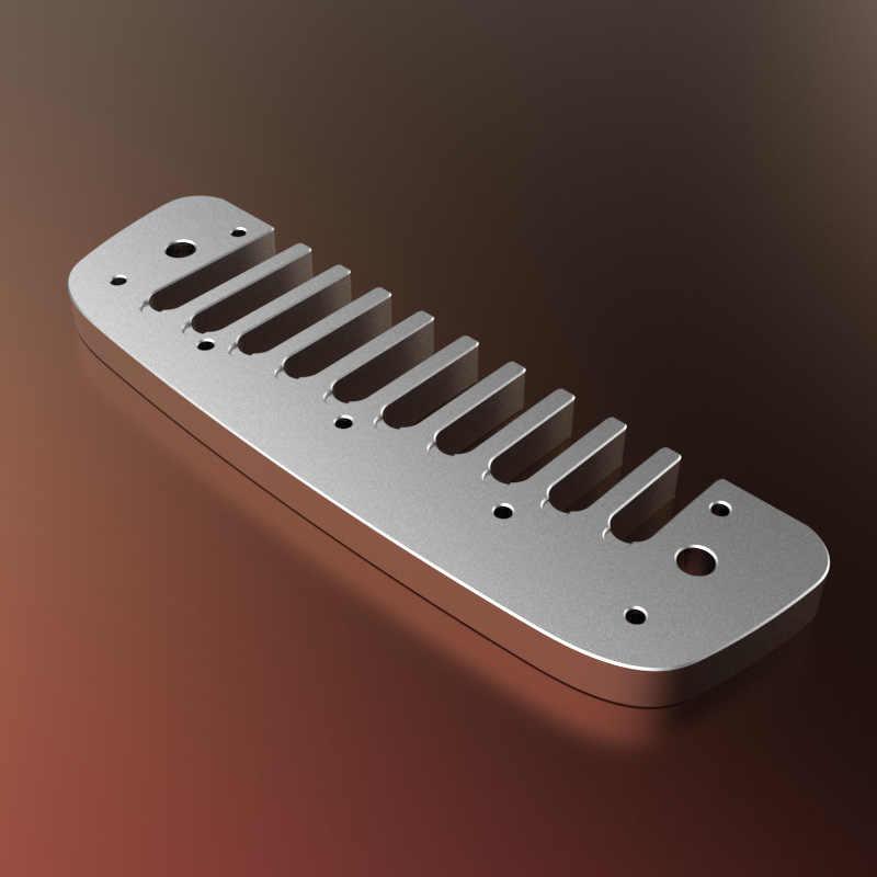 Hohner 10 otworów harmonijka diatoniczna grzebień Blues harfa Armonica części grzebień ze stopu Aluminium dla Hohner Golden Melody GM klucz C
