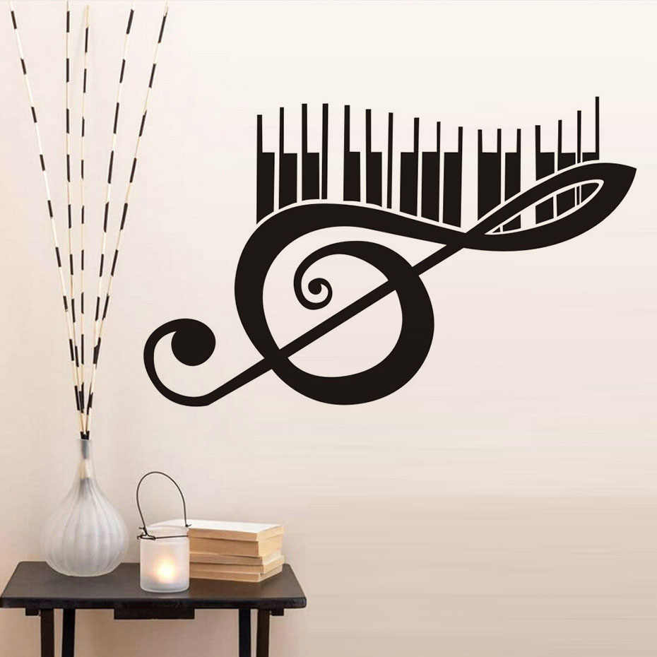 Wall Decal Decoration Living Room Bedroom Wall Sticker Piano Music