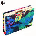 New Fashion  Colorful Cotton Fabric Exquisite Multicolor Books Day Clutch Wedding Party Evening Bags BH511