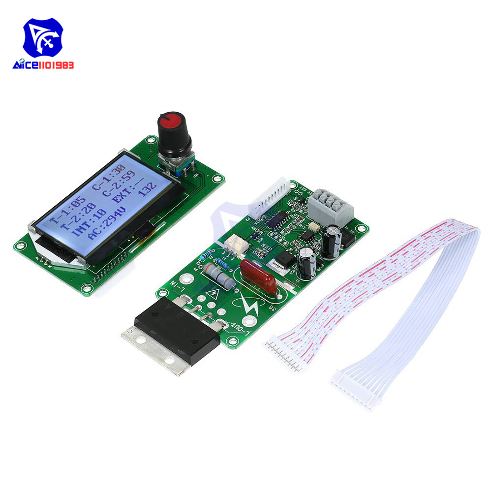 100A/40A Digital LCD Display Voltage Amp Meter Time Control Board Double Pulse Encoder Spot Welder Machine Controller Module100A/40A Digital LCD Display Voltage Amp Meter Time Control Board Double Pulse Encoder Spot Welder Machine Controller Module