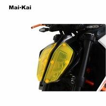 MAIKAI FOR KTM 390DUKE 390 DUKE 790DUKE 790 2017-2018 Motorcycle Headlight Protector Cover Shield Screen Lens
