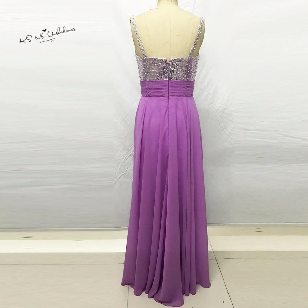 68c5acd744e Robe demoiselle d honneur Purple Bridesmaid Dresses Long 2017 Sequin Silver  Wedding Party Dress Chiffon Bruidsmeisjes Jurk-in Bridesmaid Dresses from  ...