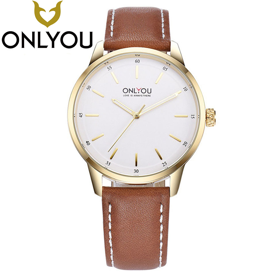 ONLYOU Men Fashion Leather Strap Clock Male Top Brand Famous  Watch  Luxury High Quality Waterproof Watches  Hot Sale Wholesale