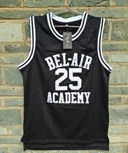 ae3e18035433 Brand LIANZEXIN Carlton Banks  25 Jersey Bel Air Academy Mens Black  Basketball Throwback Stitch Jerseys For Sale