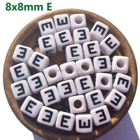 Alphabet Letter Buchstabe lettres 1100 Pieces 8x8mm A B C D E H I J K L M N O P R S U Acrylic Cube Beads DIY Jewelry Finding