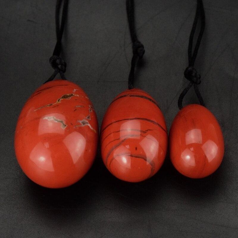 3pcs Natural Red Jasper Yoni Egg Kegel Vagina Exercise Massager For Women Health Care Adult Sex Toys