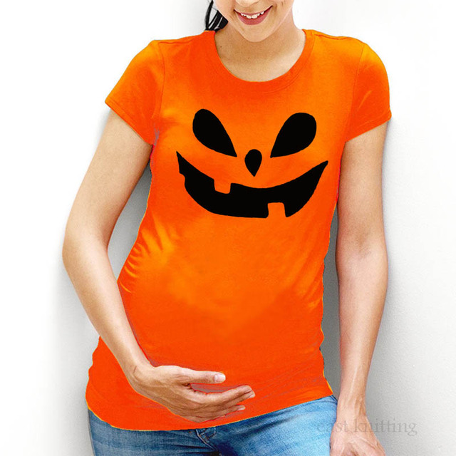 8b11324e6 YF0025 New Pregnant Woman Short Sleeve T shirt Funny Halloween Maternity  Tops