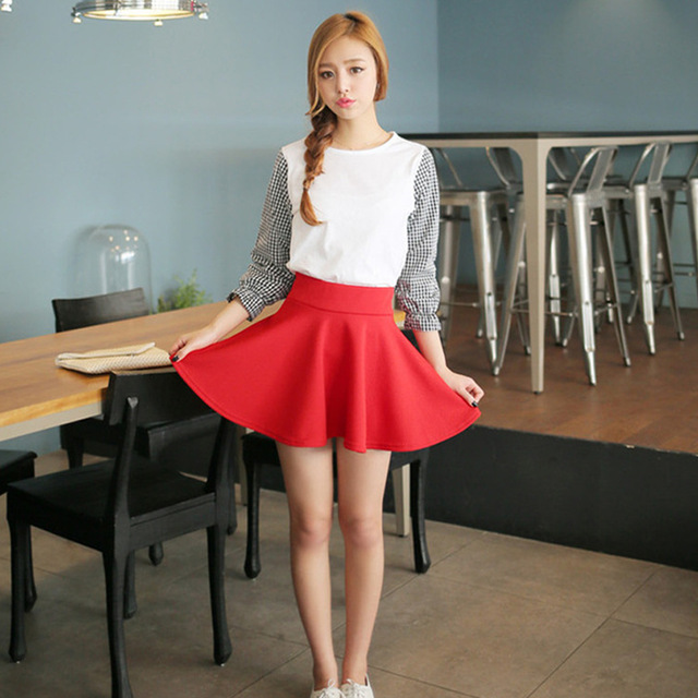 New Short Skirts Womens 2016 New Style Casual Vintage -9560