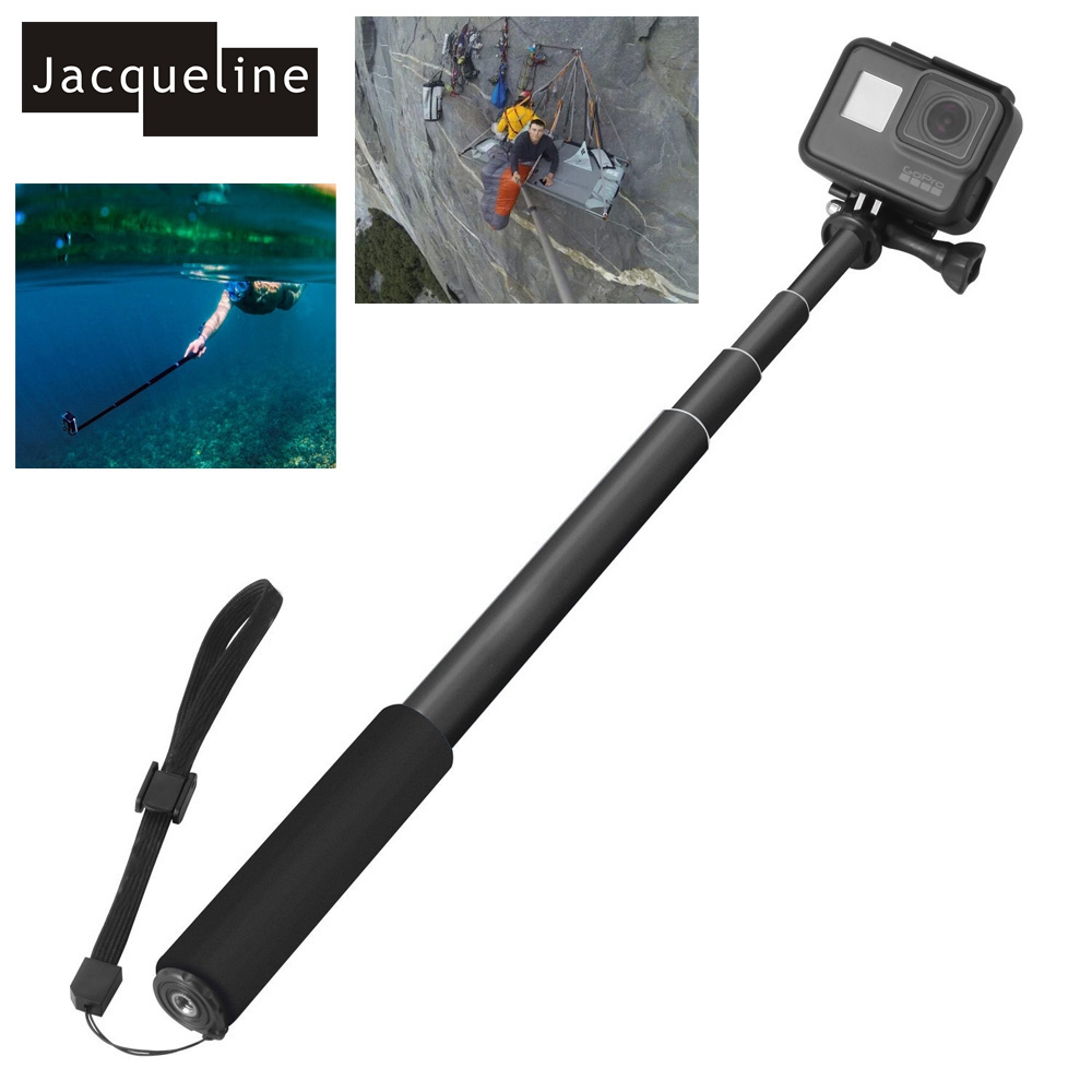 Jacqueline for Selfie Stick Telescoping Monopod Mount Pole for Gopro Hero 6 5 Session 5 4/3+/3/2 for SJCAM SJ4000 for EKEN H9R justone 3d printing car 3 suction cup holder mount for gopro hero 4 1 2 3 3 sj4000 black page 5
