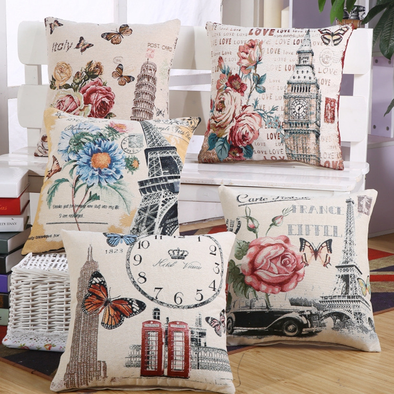 Cushion Cover Without Inner European Style Linern Cotton Square 45 Home Decor Sofa Car Seat Decorative Throw Pillow Almofada