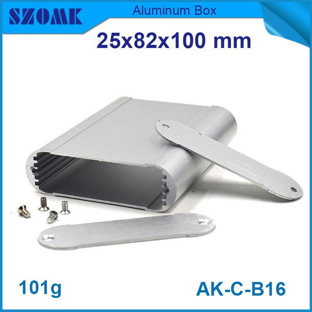 (10pcs) silver aluminium extrusion housing electrical outlet box with smooth surface 25*82*100mm