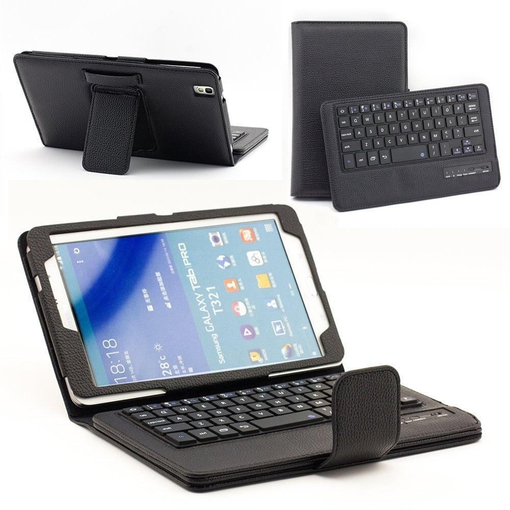 For Galaxy tab pro 8.4 T320 litchi pattern split Bluetooth keyboard galaxy tab