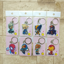 8PCS/lot X men Keychain Fashion Jewelry Key Chains Super hero Custom made Movie Key Ring HS01